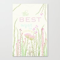 be happy Canvas Prints featuring HaPPy by Monika Strigel