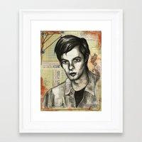 calvin Framed Art Prints featuring Calvin Love by CHAR ODEN