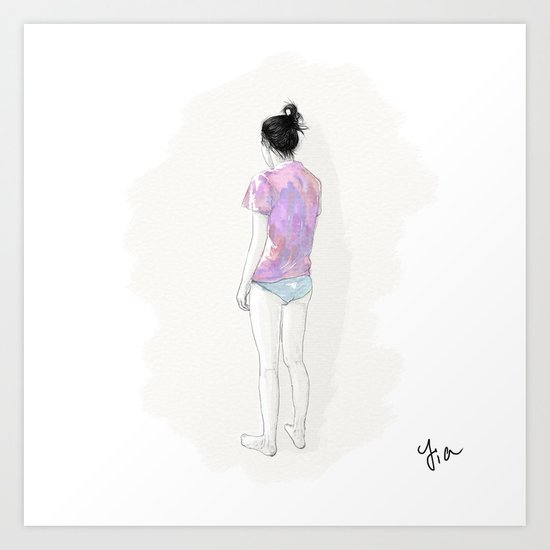 the other girl Art Print