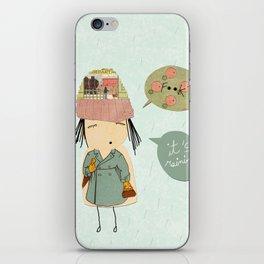 """""""I like London in the rain"""" iPhone Skin"""