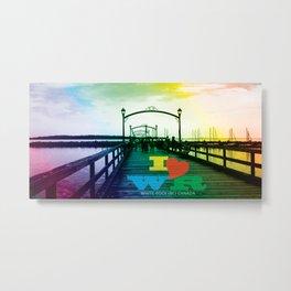 I <3 White Rock (BC) Canada - Colorful Pier Metal Print
