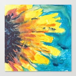 Free Flowing Sunflower Canvas Print