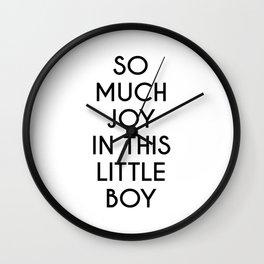 So Much Joy In This Little Boy Wall Clock