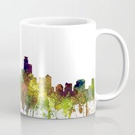 Minneapolis, Minnesota Skyline SG - Safari Buff Coffee Mug