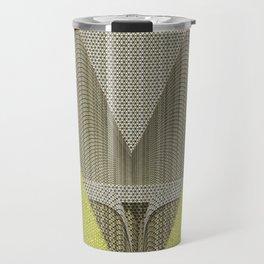 Light green and gray abstract Design Travel Mug