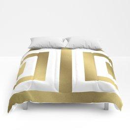 Gold Greek Stripes Comforters