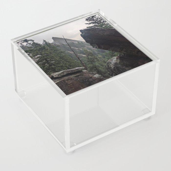 Flat Iron 1 During Rainstorm Acrylic Box