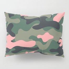 Girlie Green Pink Camouflage Pillow Sham