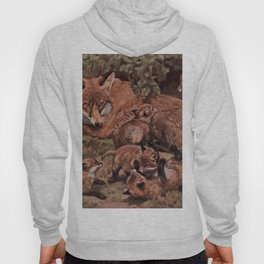 Vintage Fox and Cuba Painting (1909) Hoody