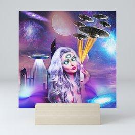 UFO Babe Mini Art Print
