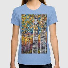 Colourful Autumn Aspen Trees T-shirt