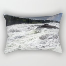 waterfall Storforsen in the north of Sweden Rectangular Pillow