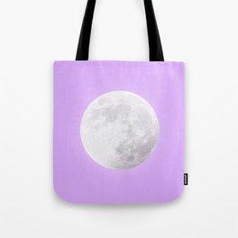 WHITE MOON + LAVENDER SKY Tote Bag