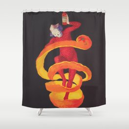 Bitter Campari Vintage Beverage Poster Shower Curtain