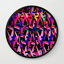 Shattered 1980's Wall Clock