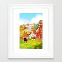 animal crossing Framed Art Prints featuring Animal Crossing by Sama Ma