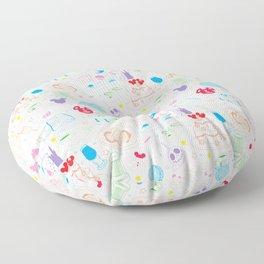 Tasting the Magic - White Floor Pillow