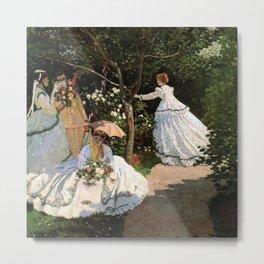 Women In The Garden, Claude Monet Metal Print