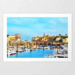 Dieppe Harbour Art Print