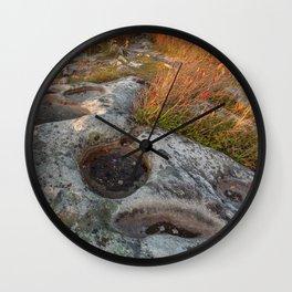 Autumn Huckleberry Fossil Wall Clock