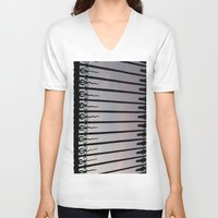 bar V-neck T-shirts featuring Bar by Goolpia