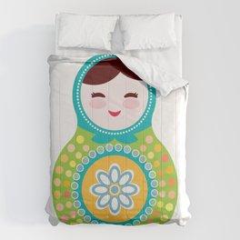 babushka doll matryoshka Comforters