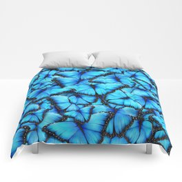 Peace of the Blue Butterfly Comforters
