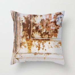 Rust and white paint Throw Pillow