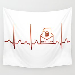 Mail Carrier Heartbeat Wall Tapestry