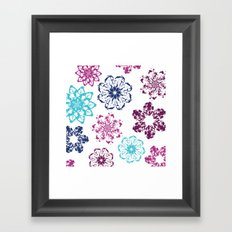 Batik Flowers Framed Art Print