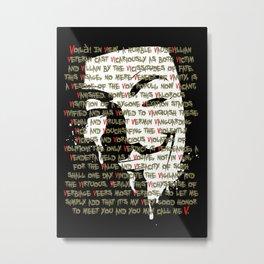 Vendetta 1.0 Metal Print