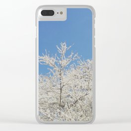 White blossoms in Stuttgart, Germany Clear iPhone Case