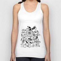 bicycles Tank Tops featuring Bicycles by Ewan Arnolda