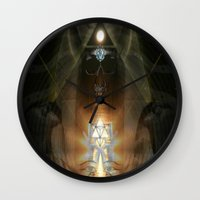 egypt Wall Clocks featuring Egypt by Filip Klein