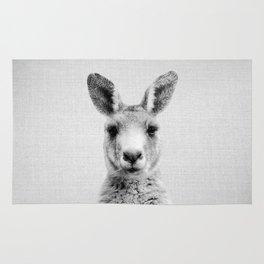 Kangaroo - Black & White Rug