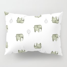Unforgettable Elephants  Pillow Sham