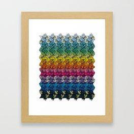 Escher Fish Rainbow Pattern Framed Art Print