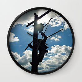 Rusty the Lineman Wall Clock