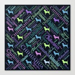 Chihuahua Word Art Canvas Print
