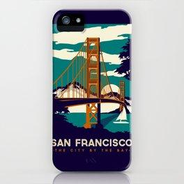 San Francisco Golden Gate Bridge Retro Vintage iPhone Case