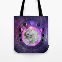 moon phase Tote Bags featuring Moon Phase by Fantastikat