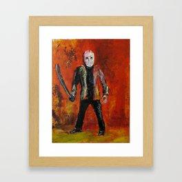 Jason Voorhees,  original painting by jack larson Framed Art Print
