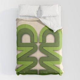 Symmetry: Green Tree Comforters