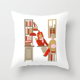 N as Notary Throw Pillow
