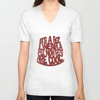 fez V-neck T-shirts featuring it's a Fez ! by erintquinn