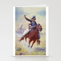 cowboy Stationery Cards featuring Cowboy by Lily Snodgrass