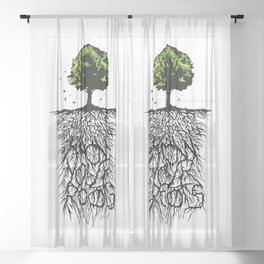 Know your Roots Sheer Curtain