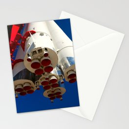 Vintage Spacecraft Engines Stationery Cards