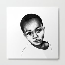 African Child Metal Print