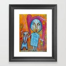 Me and My Dog Framed Art Print